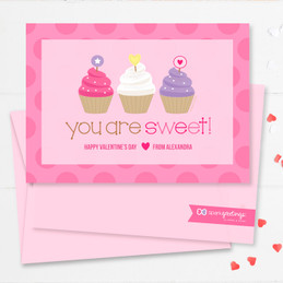 Colorful Valentine Cards For School | Three Sweet Cupcakes