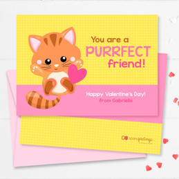 Cute Little Kitten Kids Valentines Cards