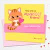 Super Cute Kids Valentines Exchange Cards | Cute Little Kitten