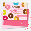 Colorful Valentine's Day Card Exchange At School   Donut Love