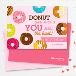 Colorful Valentine's Day Card Exchange At School | Donut Love