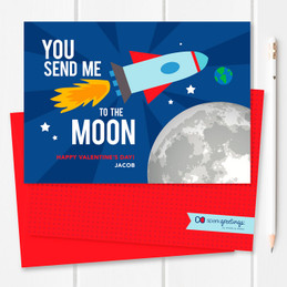 Love To The Moon Kids Valentines Cards