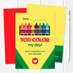 Full Of Color Kids Valentines Cards