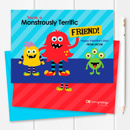 Monster Love Kids Valentines Cards