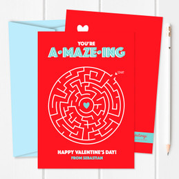 Sweet Maze Kids Valentines Cards
