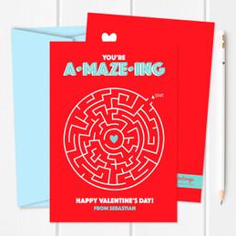 Classroom Valentine Cards | Sweet Maze