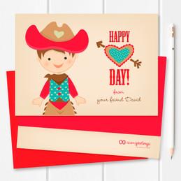 Valentine Exchange Cards | Western Cowboy