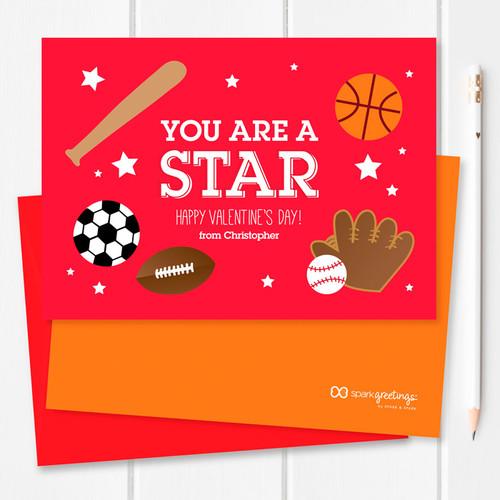 Super Cute School Valentine Cards   You Are A Superstar