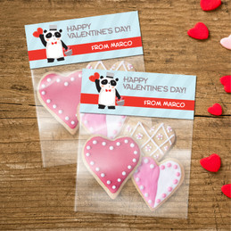 Panda And Hearts Treat Bags