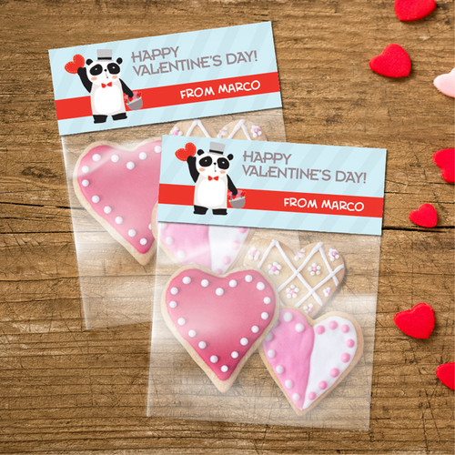 Panda And Hearts Treat Bags