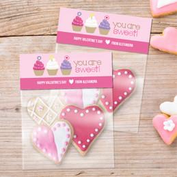Three Sweet Cupcakes Favor Bags