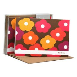 Flower Bunch Pink Notecards