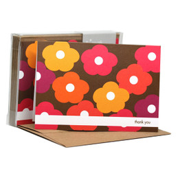 Awesome Boxed Stationery Note Cards | Flower Bunch Pink