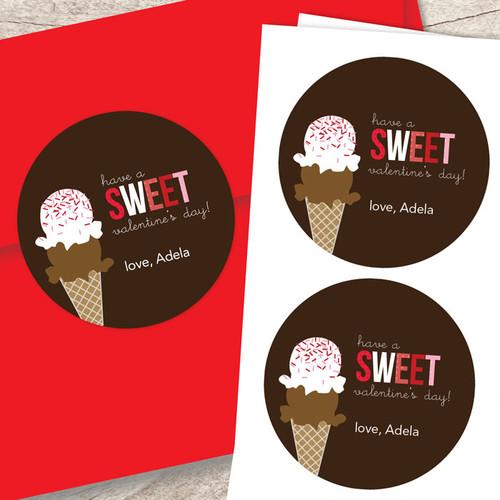 Sweet Valentine's Day Custom Stickers