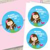 Friendly Mermaid Custom Stickers