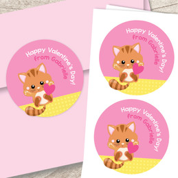 Cute Little Kitten Custom Stickers
