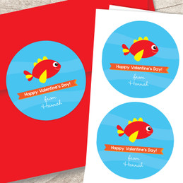 Sweet Fish Valentines Labels