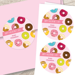 Donut Love Valentine Address Labels