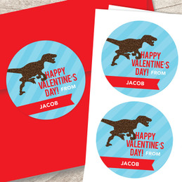 Dino Love Custom Stickers
