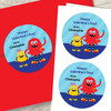 Monster Love Valentines Labels