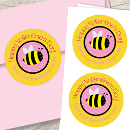 Bee A Valentine Custom Stickers