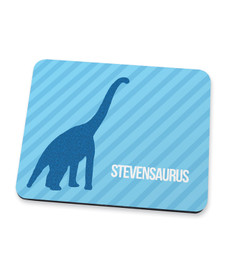 Dino And Me Blue Mouse Pad
