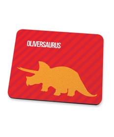 Dino And Me Red Mouse Pad