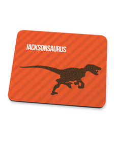 Dino And Me Orange Mouse Pad