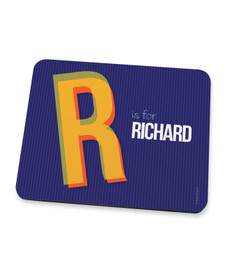 Double Initial Blue Mouse Pad