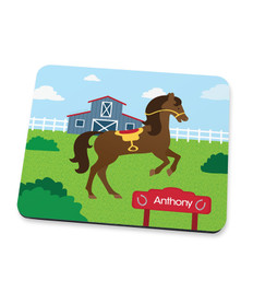 Cute Race Horse Mouse Pad