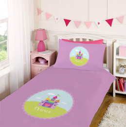 Pretty Heart Castle Duvet Cover Set