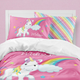 Rainbow Unicorn Duvet Cover