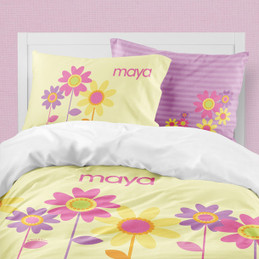 Three Spring Blooms Duvet Cover