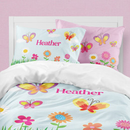 A Butterfly Field Duvet Cover
