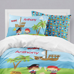 Yo Ho Pirate Boy Duvet Cover