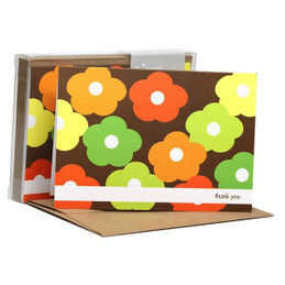 Flower Bunch Green Notecards