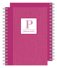 Elegant Pink Linen Journal