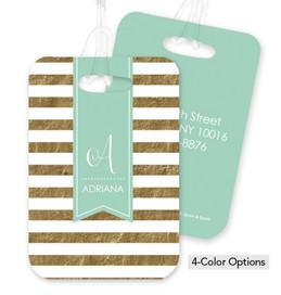 Gold Stripes Bag Tag