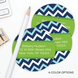 Mod Chevrons Label Set