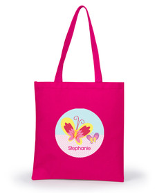 Smiley Butterfly Tote Bag