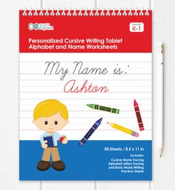 Vertical Cursive Writing Book For Boys