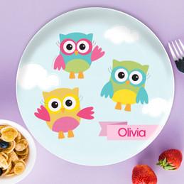 Three Owls Kids Plates