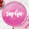 Bold Colorful Name Kids Plates