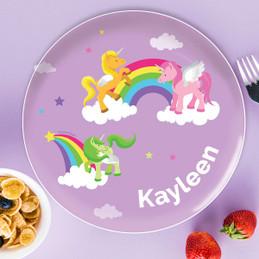 Sweet Unicorns Kids Plates