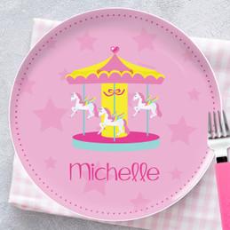 Sweet Carousel Kids Plates