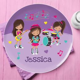 Rock And Roll Band Kids Plates