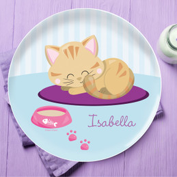 Cute Little Kitten Kids Plates