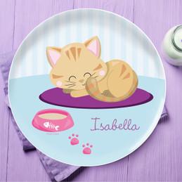 Cute Little Kitten Kids Plates