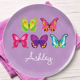 Bright Butterflies Kids Plates