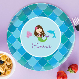 Mermaid Shades Kids Plates